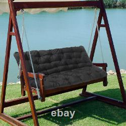 2/3 Seater Bench Swing Seat Cushion Garden Home Chair Furniture Pad