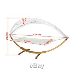 200KG Hammock Frame Hanging Bed Swing Chair Garden Camp Swing Seat With Roof