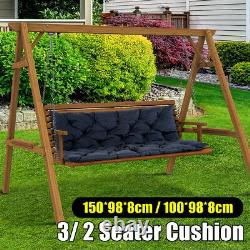 3/2 Seater Bench Swing Seat Cushion Garden Furniture Pad Backrest Chair