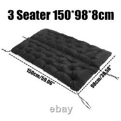 3/2 Seater Bench Swing Seat Cushion Garden Furniture Pad Backrest Chair Hom