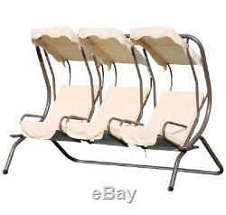 3 Individual Seater Patio Swing Chair Outdoor Garden Hammock Canopy Bench Seat