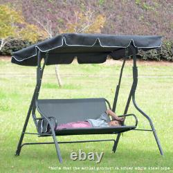 3 Seater Garden Swing Chair Seat Hammock Bench Lounger Outdoor Canopy Patio Seat