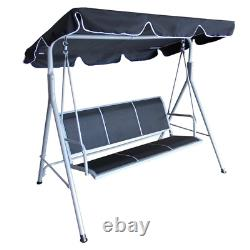 3 Seater Garden Swing Chair Seat Hammock Outdoor Canopy Patio Stainless Steel