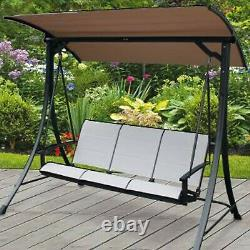 3 Seater Outdoor Garden Patio Swinging Hammock Swing Lounger Bench Chair Canopy