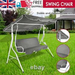3 Seater Swing Chair Outdoor Spring Garden Cushions Canopy Patio Hammock Seat UK