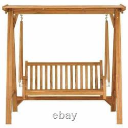 3 Seater Wood Garden Swing Chair Seat Hammock Bench Furniture Lounger Bed 170cm