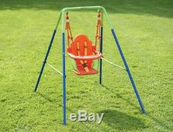 Baby Swing Nursery Kids With Back Seat Support Garden Toddler Play Outdoor