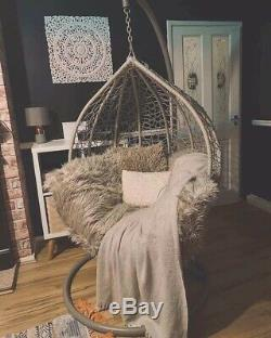 Brand New Egg ChairPale GreyGardenPatioHangingSwing seatStill In Packaging