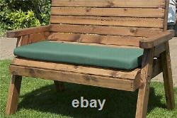 Charles Taylor Wooden Dorset 2 Seater Swing Seat Chair Bench Green Cushion