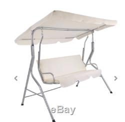 Chic Garden Swing Seat chair canopy shade Outdoor adjustable cushions bench new