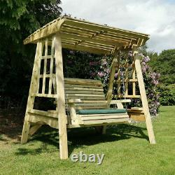 Churnet Valley 2 Seat Garden Swing outdoor wooden country cottage English