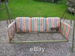 Classic period Country House 1920/30s garden swing hammock seat for restoration