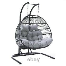 Cocoon Egg Chair Hanging Swing Folding Single Double Garden Outdoor Furniture