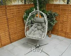 Cocoon Egg Chair Swing Folding Single Garden Furniture Holly