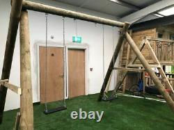 Commercial Swing Set Swing Seats, Outdoor Toys, Garden Games 6 Round Posts