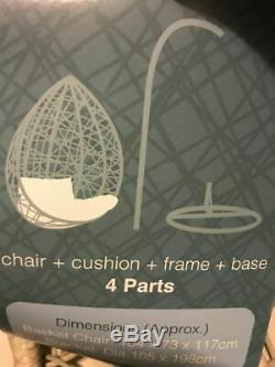 Egg ChairGardenPatioSienaHangingSwing seatBrand New, Still In Packaging