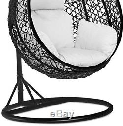 Egg Swing Chair Rattan Hanging Cushion Stand Garden Summer Patio Furniture Seat