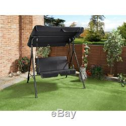 Garden 2 Seater Swing Chair Hammock Outdoor Swinging Seat with Cushion & Canopy