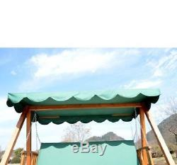 Garden Furniture 3 Seater Wooden Swing Chair Seat Hammock Bench Lounger Bed