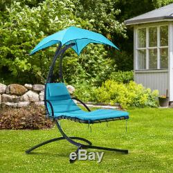 Garden Hammock Hanging Helicopter Chair Swing Lounger Seat Bench Outdoor+Cushion