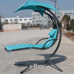 Garden Helicopter Hammock Chair Hanging Swing Sun Lounger Seat bed WithCushion UK