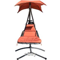 Garden Helicopter Hammock Swing Hanging Chair Seat Dream Chair Lounger with Canopy