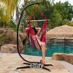 Garden Indoor Hanging Hammock Swing Chair Frame Stand X Base Patio Camping Seat