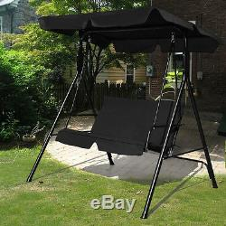 Garden Patio Metal Swing Chair Seat 2 Seater Hammocks Outdoor Bench Seat Lounger