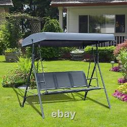 Garden Swing 3 Seater Hammock Chair Outdoor Bench Seat Lounger