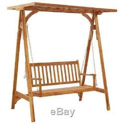 Garden Swing Bench Chairs Seater Hammock Canopy Patio Wooden Seating Furniture