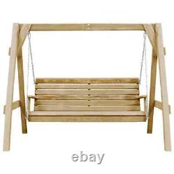 Garden Swing Bench Impregnated Pinewood 205x150x157 cm Patio Chair Seat Wooden