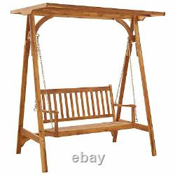 Garden Swing Bench With Canopy Swing Chair Outdoor Furniture Seat 167x120x192 cm