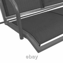 Garden Swing Chair 3-Seater Outdoor Patio Bench Seat with Canopy Furniture New