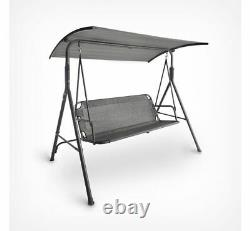 Garden Swing Chair Lounger Outdoor Bench 3 Seater Adjustable Canopy Hammock Seat