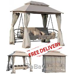 Garden Swing Chair Outdoor Gazebo Patio Hammock Canopy Bench Porch Seat Day Bed