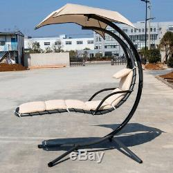 Garden Swing Hammock Chair Hanging Chaise Lounge Seat Outdoor Camping With Cushion