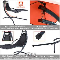 Garden Swing Hammock Hanging Chaise Sun Lounger Chair Cushioned Seat 275lbs A+++