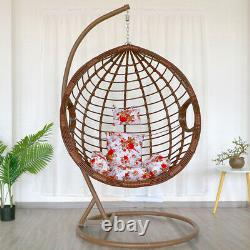 Garden Swing &Hanging Chair With Cushion Pad Rattan Egg Chairs Patio Basket Seat