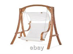 Garden Swing Seat Larch supported with polyester seat/cushoning newithboxed