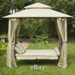 Garden Swing Seat Outdoor Gazebo Canopy Patio Furniture Lounge Bed Chair Curtain