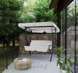 Garden Swing With Canopy Patio Seat Bench Outdoor Lounger Chair