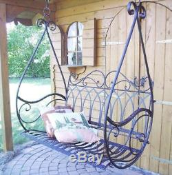 Garden swing hanging bench Bench Gondel hanging seat made from metal