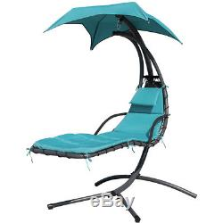 Green Yard Garden Helicopter Dream Chair Swing Hammock Sun Lounger Seat WithCanopy