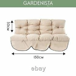 Grey Garden 2 Seater Swing Seat Cushion Replacement Water Resistant Hammock Pad