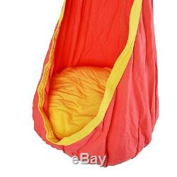 Hammock swing pendant for children seat with pads in red house garden