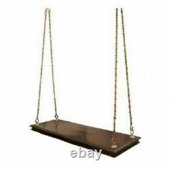 Handmade ceiling swing love seat wooden with metal chain patio&garden furniture