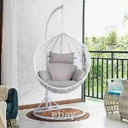 Hanging Egg Chair Cushion Patio Hammock Chair Seat Back Pillow Garden Swing Pad
