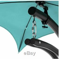 Hanging Egg Swing Chair Shaped Luxury Seat Outdoor Garden withCanopy Steel Stand