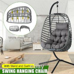 Hanging Hammock Swing Chair Outdoor Garden Rope Seat Knitted Patio Hammock Ch