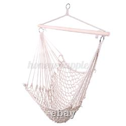 Hanging Hammock Swing Chair Outdoor Garden Rope Seat Knitted Patio Hammock Chair